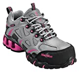 Nautilus 1851 Women's Comp Toe Waterproof EH Athletic Shoe,Grey/Pink,9.5 M US