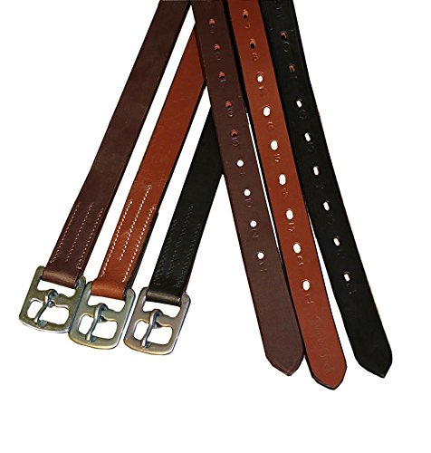 Derby Originals Premium English Stirrup Leathers, Adult, Black (Black Stirrup Leathers)