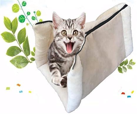 SAMMZN Artículos para Mascotas para Gatos: Saco de Dormir Doble ...