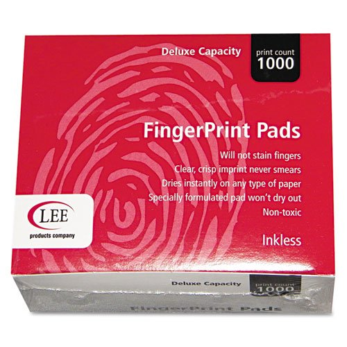 LEE Inkless Fingerprint Pad, 2-1/4 x 1-3/4 Inches, Black, 23/Dozen (03127) by LEE