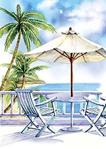morigins verano bandera de Jardín Silla de playa náutico Tropical doble cara