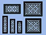 black wall vent covers - Antique Recreated Cast Iron Victorian Style Floor. Ceiling, Or Wall Grate For Return Air Intake Or Heat Vents. Floor Register Cover. 6