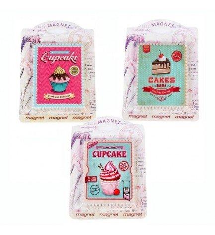 DISOK - Imán Retro Cupcake - Imanes Nevera para Detalles ...