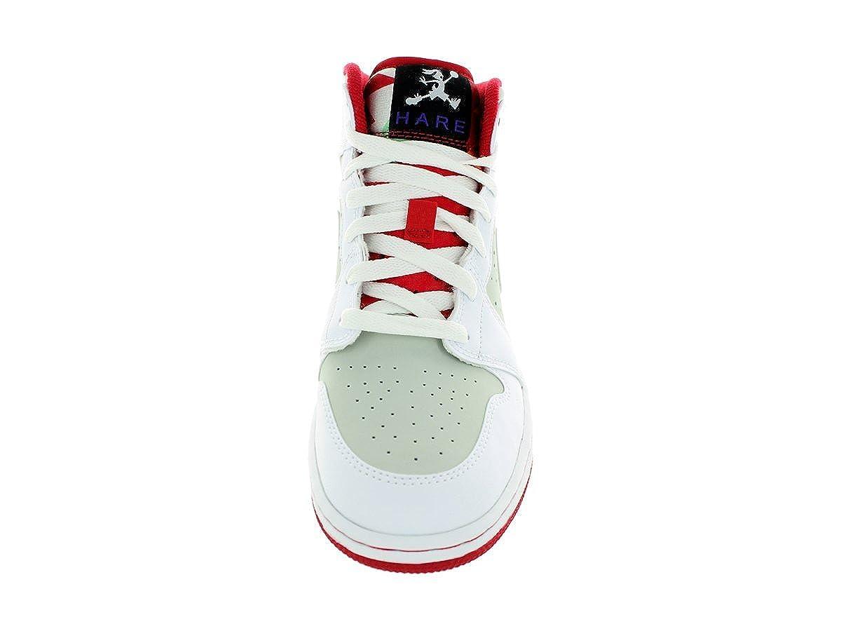 quality design 8a9cc 95eda Nike Jungen Air Jordan 1 MID WB BG Turnschuhe, Rot Schwarz (Weiß Wahre Red-Lght  Silber-Blk), 37 1 2 EU  Amazon.de  Schuhe   Handtaschen