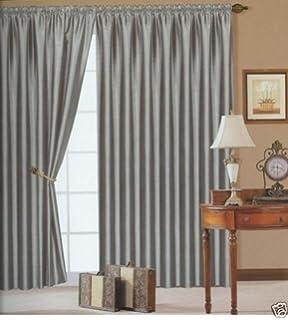 Laura Ashley Wallace Multi Pencil Pleat Ready Made X Curtains - Laura ashley silk curtains