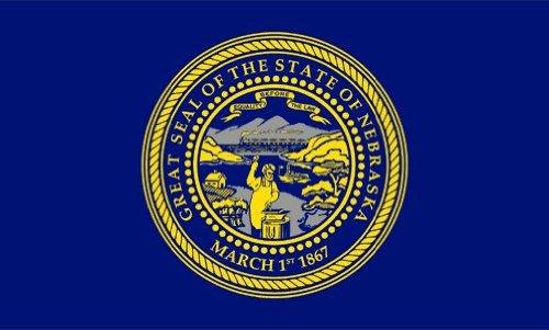 Valley Forge Flag Made in America 3' x 5' Nylon Nebraska State Flag