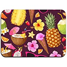 yyoungsell Ice Cream Pineapple Entrance Rug Rubber Floor Mats Washable Doormat Shoe Scraper For Home