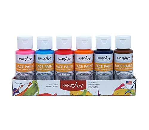 Handy Art 6 Color - 2 Oz Secondary Face Paint Kit (Face Paint School Spirit)