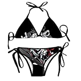 Hip Hop Animals Women's Sexy Bikini Swimsuit Print Straps Swimwear Set