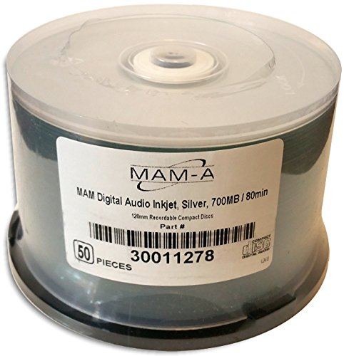 MAM-A  DIGITAL-AUDIO *SILVER INKJET PRINTABLE* 80-Minute CD-