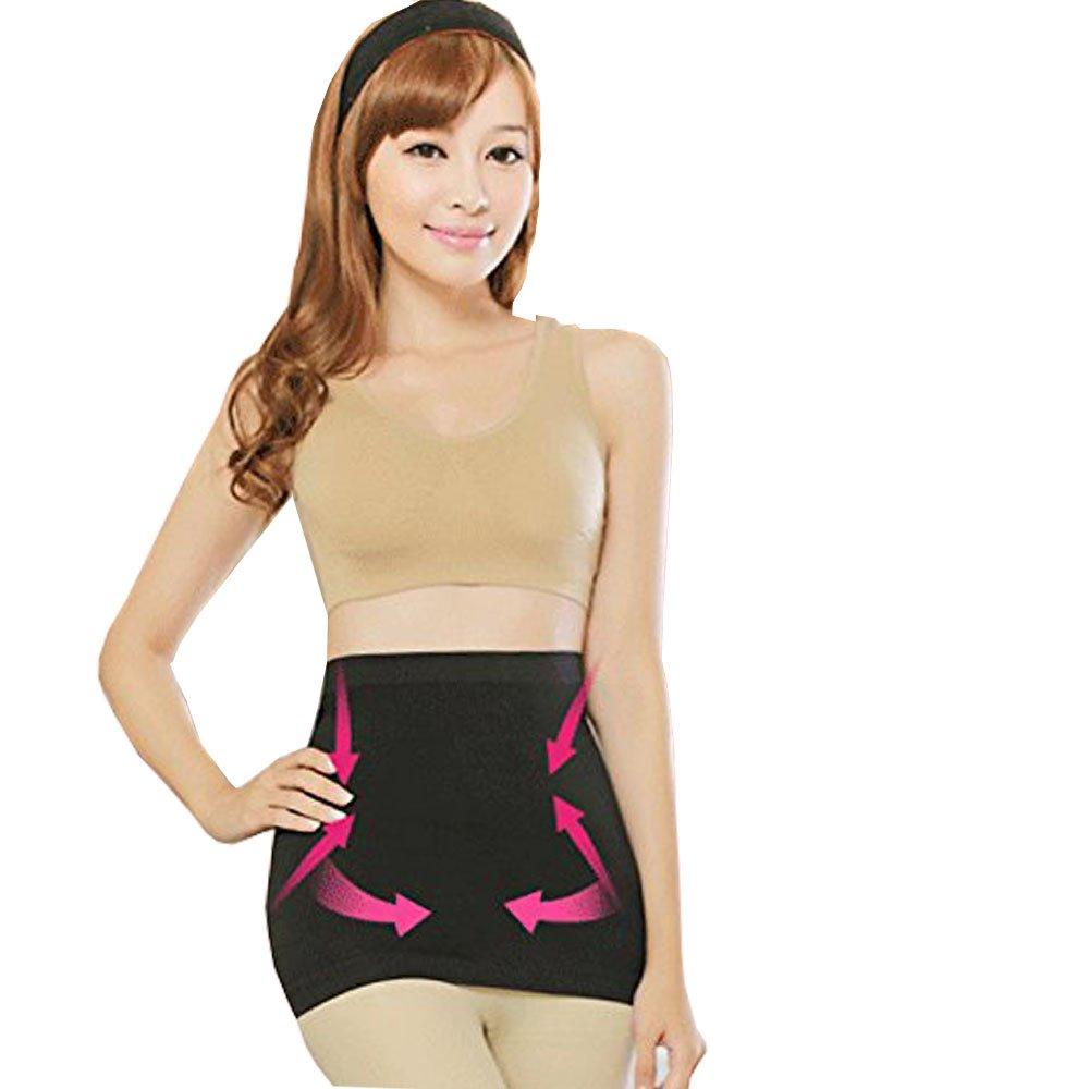 YK Care Abdomen Shaper Burn Fat Lose Weight Fitness Fat Cellulite Burner Slimming Body Shaper Waist Belt (M: 25.2-28.35 inches, Black)