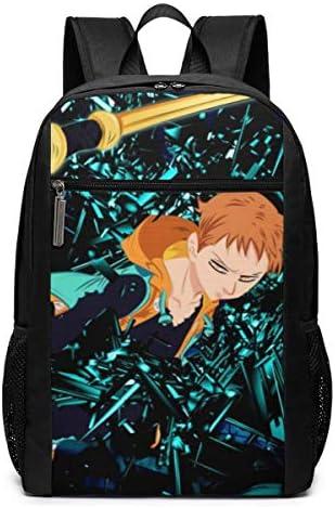 Die Sieben Todsünden College 17 Zoll Schule Bookbag Casual Daypack Bag für Frauen Männer Erwachsene