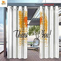 Patio Curtains Thank-Ypo-Lettering-On-Grunge-Background--Modern-Brush-Calligraphy-Text-Collection-For-Invitation--Greeting-Card-Templates--Isolated-Vector-Clipart-.jpg Outdoor Curtain for Patio,Outd