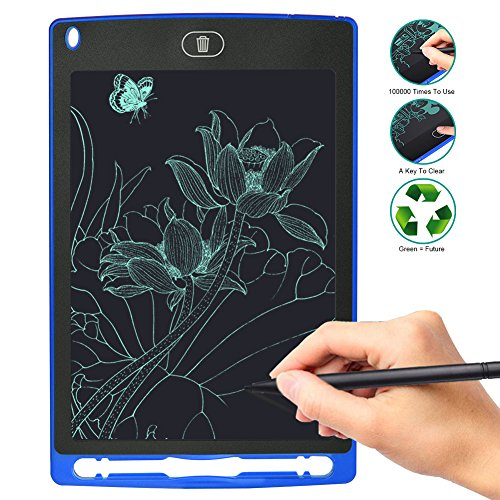 LCD Writing Tablet 8.5 inch Electronic drawing board for Kids drawing and learning Office Memo e-writer Pad Message Board (blue)