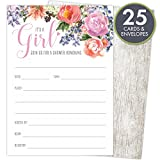 "Health & Personal Care : It's a Girl Baby Shower Invitations Set of 25 Fill-In Style 4.25"" x 6"" Cards and A6 Envelopes. Printed on Heavy Card Stock."