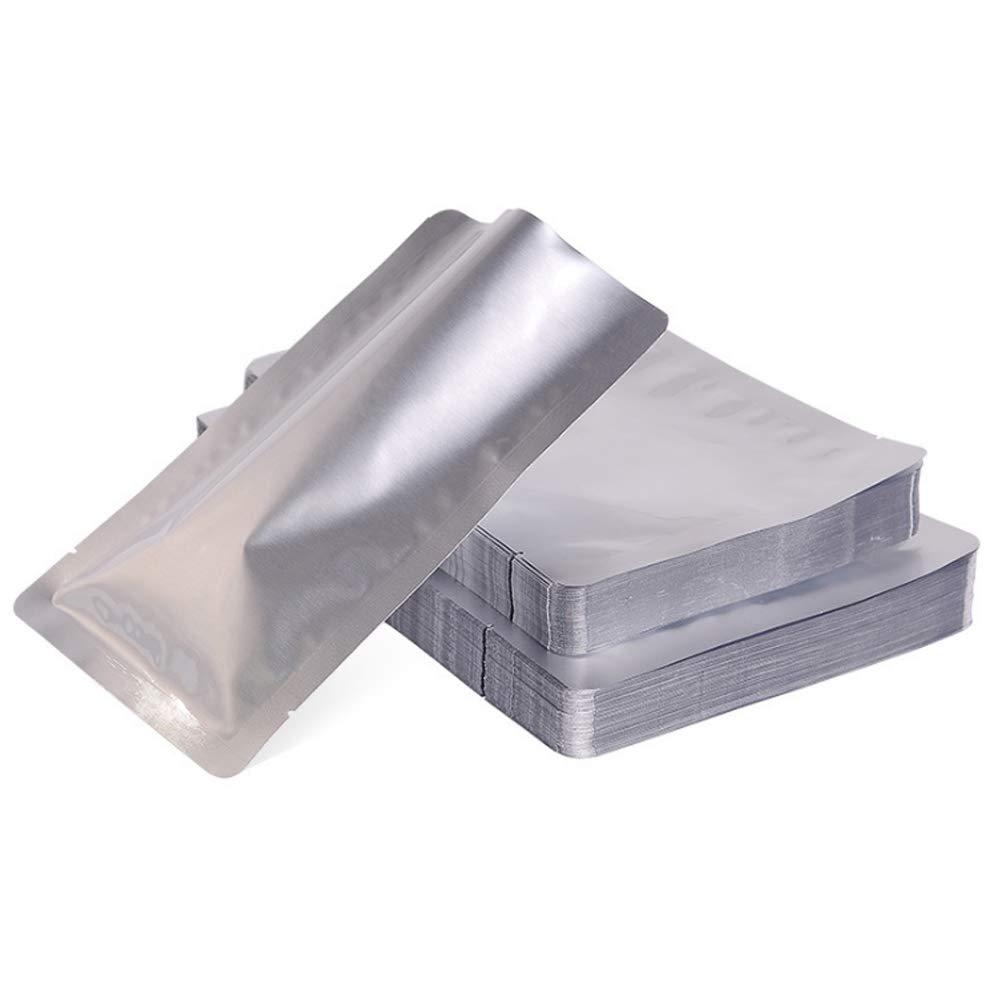 Godagoda 100pcs Heat Seal Aluminium Foil Bags Vacuum Sealer Pouches Storage Bag Food Grade
