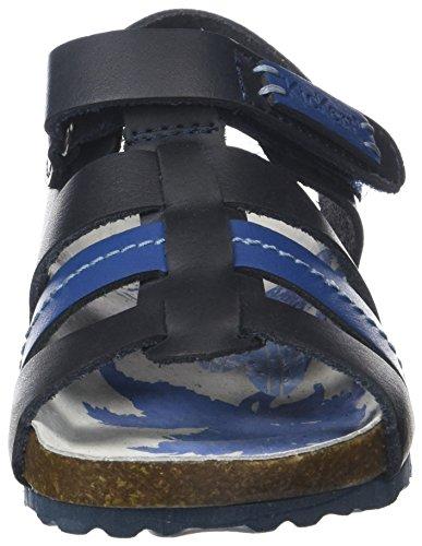 Kickers Magiteam, Sandalias con Punta Abierta Para Niños Bleu (Marine Bleu)