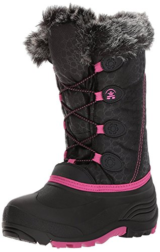 Kamik Children's Snow Boots - Kamik Kids' Snowgypsy Snow Boot, Black/Magenta/Bmm, 12 Medium US Little Kid