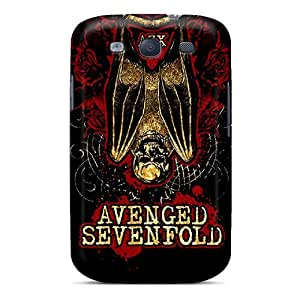 Galaxy S3 Hard Back With Bumper Silicone Gel Tpu Cases Covers Avenged Sevenfold