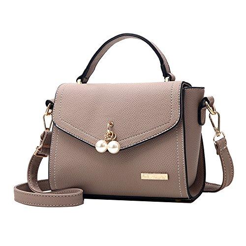 Khaki Bag Bag Messenger FLHT Ms Summer Simple Party Mini Bag Bag PU Bag Fashion Shoulder wZ6qtq