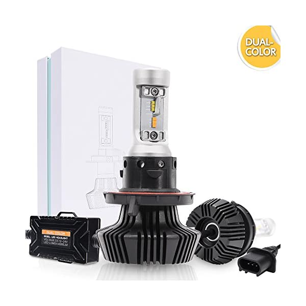 MICTUNING DUAL COLOR LED Headlight Bulb Conversion Kit   H4/H11/H13/9005/9006