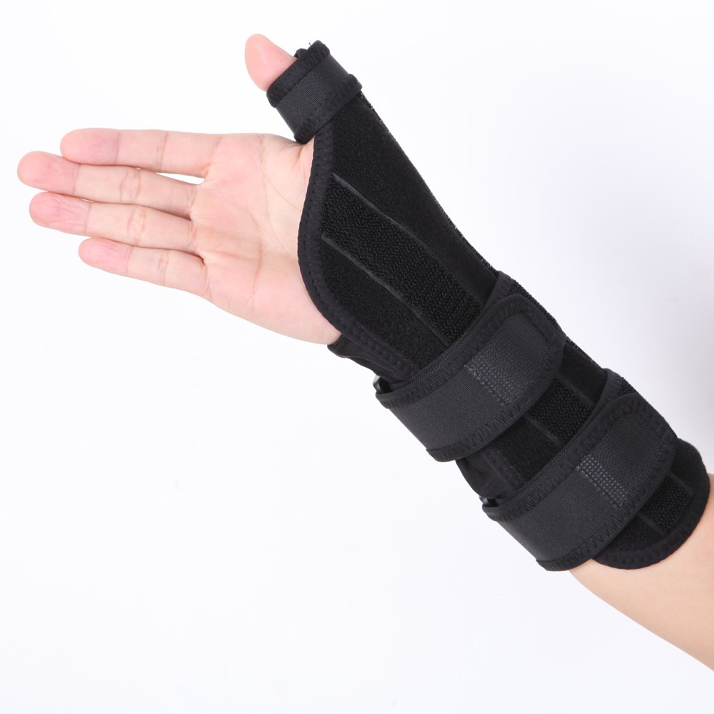 Medical Wrist Hand Support Scaphoid Fracture Brace Sprains Fracture Osteoarthritis with Steel Plate Wristbands Rehabilitation Equipment (S: suit for wrist circumference 5.1-6.3 inch)
