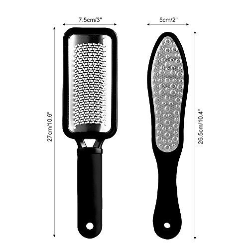 Pretty See Pedicure Rasp Foot File Callus Remover for Removing Hard Skins and Cracked Skin Corns, Foot Exfoliating Scrubber Cleaner File 3 Pcs/Set