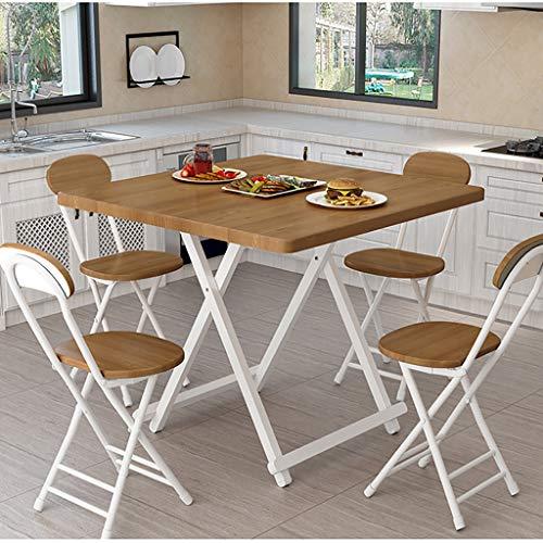 QYJ-matbord fyrkantigt matbord 2-6 säte kontor matsal hem möbler trä modernt kök fällbart bord (skogsspannmålsfärg) 70*70*75CM