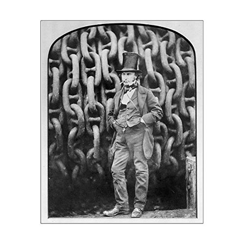10x8 Print of Isambard Kingdom Brunel at Millwall during the building of the Great (3676167) National Maritime Museum