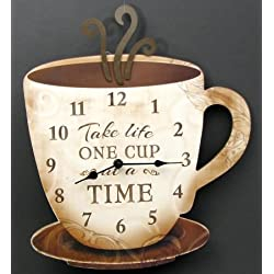 IWGAC 049-14098 Coffee Clock Take Life One Cup At A Time by IWGAC