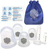 Silicone Cupping Therapy Sets - Anti Cellulite Suction Cups And Facial Cupping By Say La Vee | Professional Cupping Set | 6pcs Cupping Therapy Kit For Pain Relief | Muscle Spasm | Lymph And More.