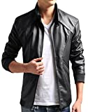 Product review for ZSHOW Men's Casual Faux Leather Jacket Waterproof Motorcycle Jacket Windbreaker
