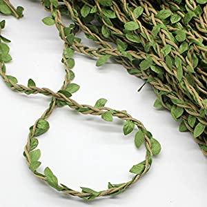 Whaline Artificial Vines 262 Feet Fake Simulation Foliage Leaf Hanging Plant Garland DIY Decorative Home Wall Garden Rustic Wedding Party Wreaths and Flower Decor 4
