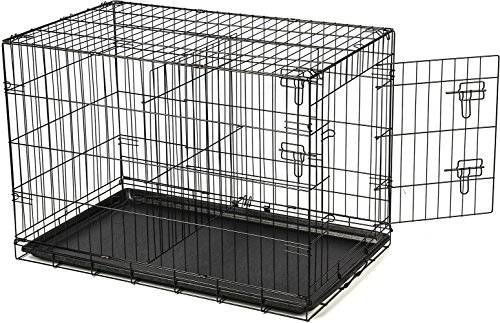 36 Dog Crate 2 Door W/divide W/tray Fold Metal Pet Cage Kennel House for Animal by Unknown