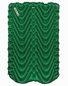 Klymit Double V colchoneta inflable / alfombra para acampar, ir de excursión, y mochilero   Colchón de aire para dos personas (Bosque verde): Amazon.es: ...