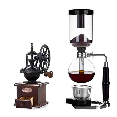 Sifónico Maquina de cafe Manual Vacío Vaso Coctelera de mano Cafetera Resistente al calor Vaso Maquina