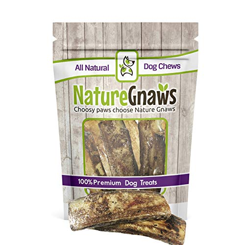 (Nature Gnaws Roasted Beef Rib Bones - 100% Natural Dog Chews (6)