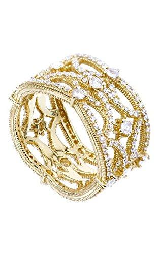 Judith Ripka Cushion Ring - Judith Ripka Lattice Wedding Band