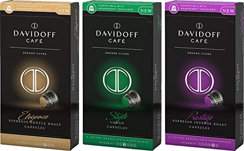 Davidoff Coffee Capsules Variety (3 flavours 10 capsules each) Total 30 count ()