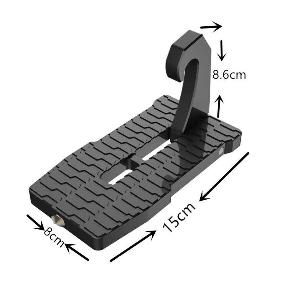 WARMTOWER Auto T/ürschwelle mit Sicherheitshammer einfacher Zugang zum Dach Leiter f/ür Auto Trittbretter in U-Form Fu/ßrasten