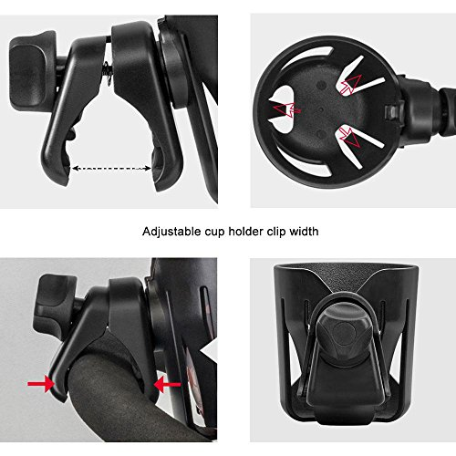 Stroller Cup Holder, Leegoal Cup Holder for Pushchairs Pram Buggy, Universal Pushchair Cup Holders for Baby Bottles, Drinking Cups, Beverage by Leegoal (Image #4)
