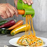 Spiral Slicer, ONEONEY Vegetable Slicer Sharpener Kitchen Spiral, Makes Veggie Pasta(Green)