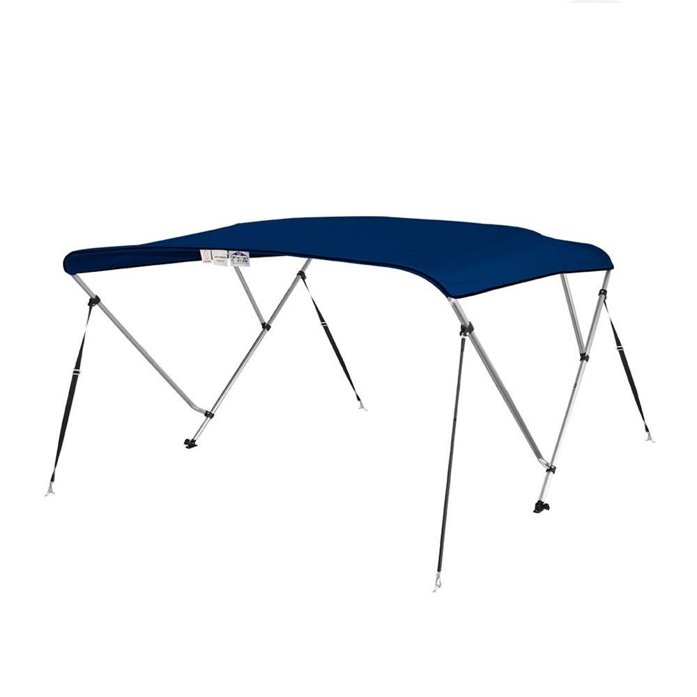 4 Seasons Bimini Top Boat Cover 3 Bow 6 ft. Long in Different Sizes & Colours (36'' High 3 Bow 6' ft. L x 67'' - 72'' W, Navy Blue)