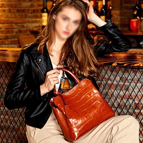 Cuero color Diagonal Gran Brown Bolso Moda Brown Mano Del Mujeres Magai Salvaje Y Simple Capacidad Hombro Las La De Paquete tzTxwqxa