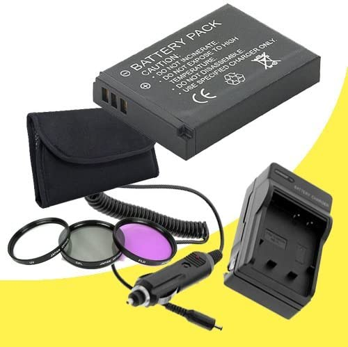 PS-BLS1 Lithium Ion Replacement Battery w//Charger 37mm 3 Piece Filter Kit for Olympus Pen E-P3 Digital SLR Cameras DavisMAX Accessory E-P3 Bundle
