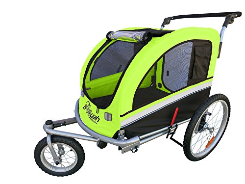 Booyah Large Pet Bike Trailer Dog Stroller & Jogger with Shocks MB – Green Review