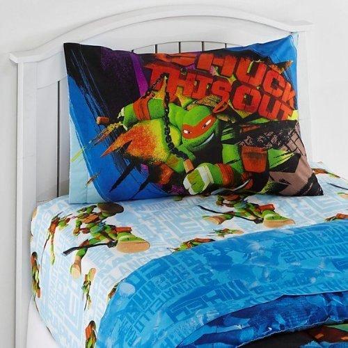 Nickelodeon Teenage Mutant Ninja Turtles Twin Sheet Set TMNT Nunchucks -