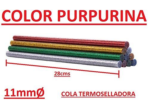 Barres de termosellado 10und 11mm Ø de couleurs brillantes avec paillettes baguettes colle colle BRICOLAGE adhésif pega Parkside kompernass