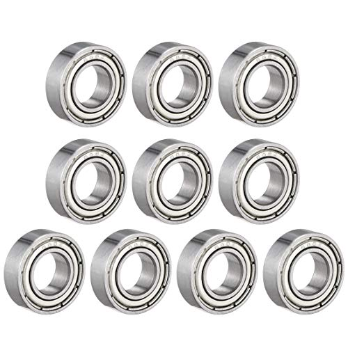 uxcell 688ZZ Deep Groove Ball Bearing Double Shield 688-2Z, 8mm x 16mm x 5mm Chrome Steel Bearings (Pack of 10) ()