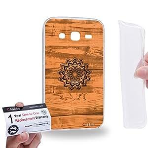 Case88 [Samsung Galaxy Core Prime G360] Gel TPU Carcasa/Funda & Tarjeta de garantía - Art Print Kaleidoscope Wood Art 2593